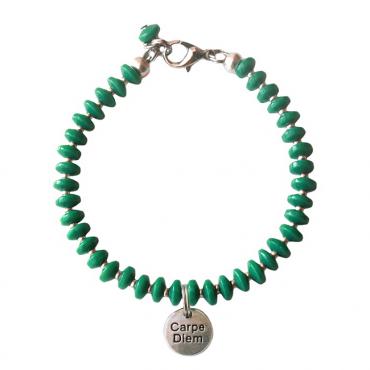 Armband Basic carpe diem groen