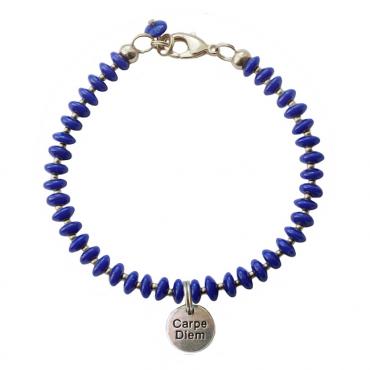 Armband Basic carpe diem koningsblauw