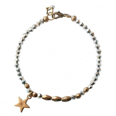 Armband basic star zilver facet