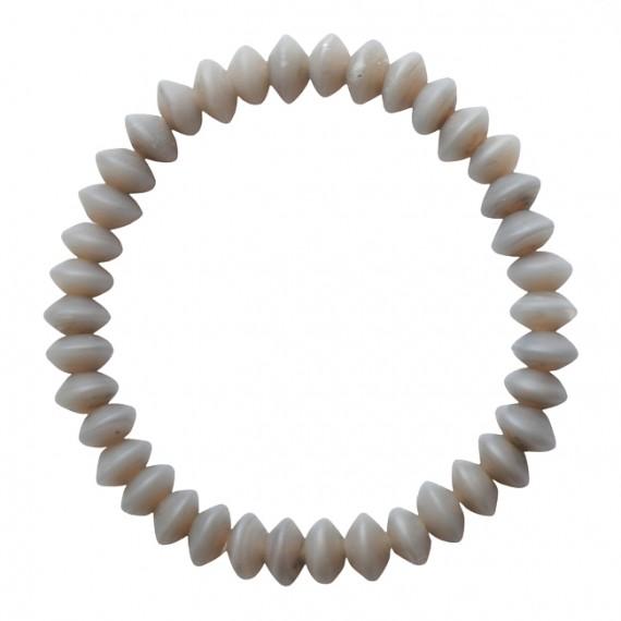 Armband Glas mat grijs