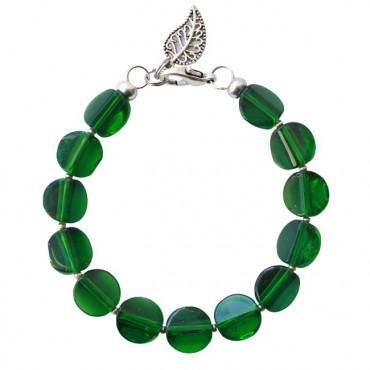 Armband basic glas groen