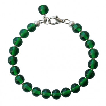 Armband Glas rond 8mm groen