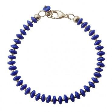 Armband Basic Glas Ufo koningsblauw