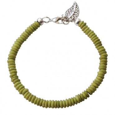 Armband basic kokos groen