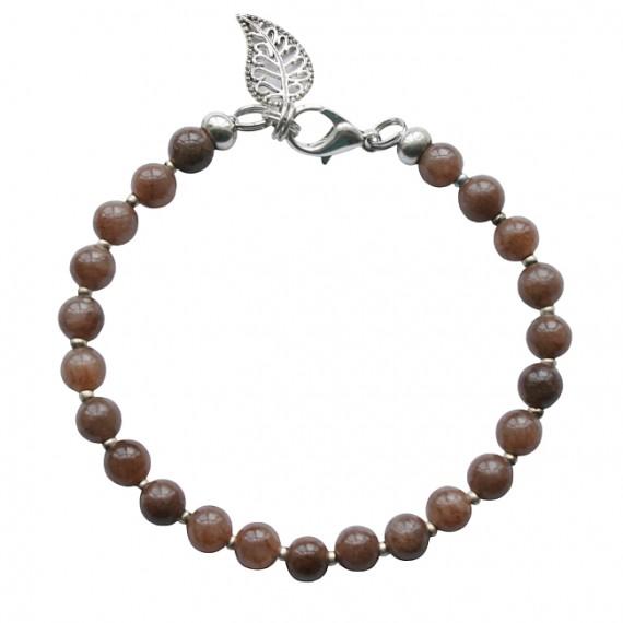 Armband basic agaat bruin