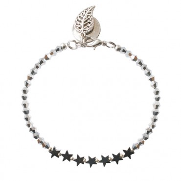 Armband twinkle stars hematiet