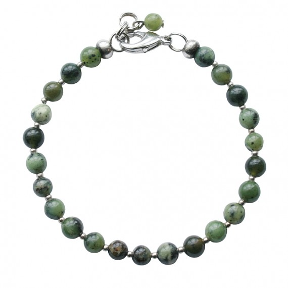 Armband basic flower jade