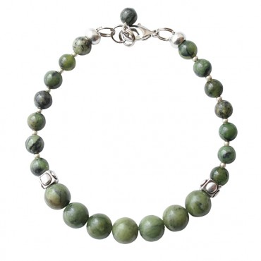 Armband basic flower jade facet mix