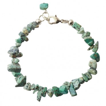 Armband basic halfedelsteen chip african turquoise