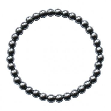 Armband | basic | elastic hematite