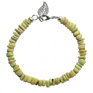Armband basic schelp groen