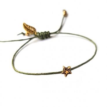 Armband Set  L A C E  groen/Goud