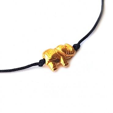 Armband Macramé Lucky Elephant Zilver/Goud