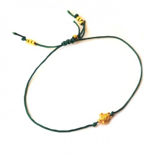 Armband Macramé Turtle Zilver/Goud