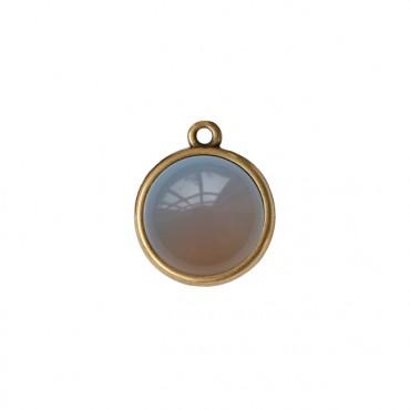 Bedel/Hanger agaat grijs brons