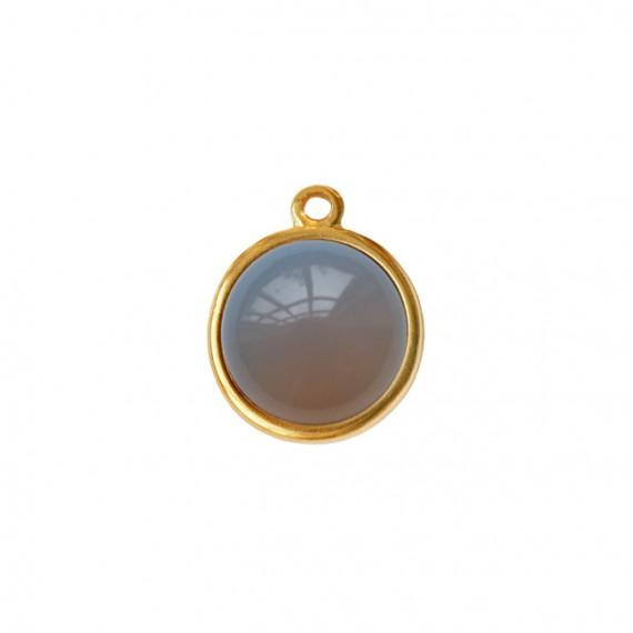 Bedel/Hanger basic agaat grijs goud