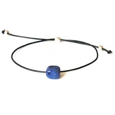 Armband Fine Leather Lapis Lazuli