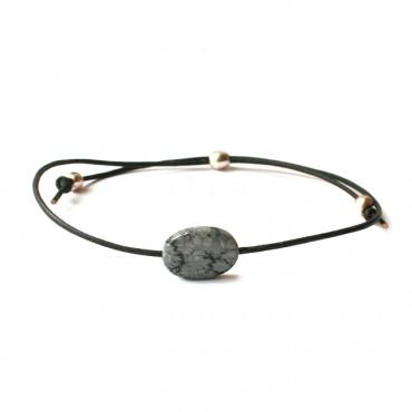 Armband Fine Leather Jaspis