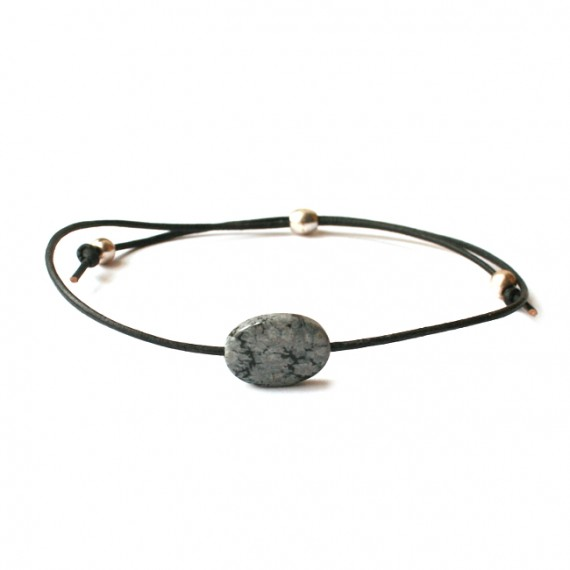 Armband Fine Leather Jaspis