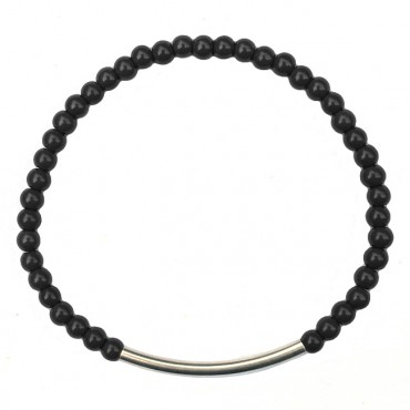 Armband Graphic tube jade zwart