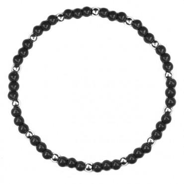 Armband Graphic 3/1 glas zwart