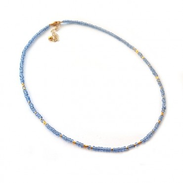 Ketting | FINE | rocaille | Blauw