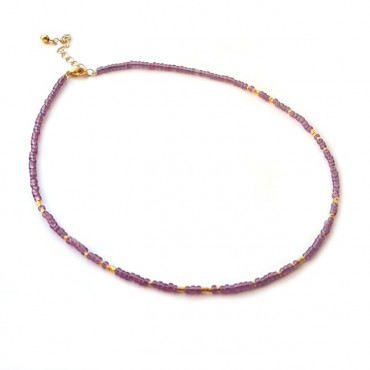 Ketting | FINE | rocaille | Lila
