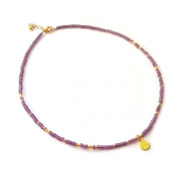 Ketting   FINE   rocaille   Lila