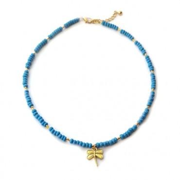 Ketting | Libelle | blauw