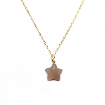 Ketting Agaat Ster Gold Filled