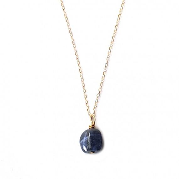 Ketting Lapis Lazuli - Kies (edel)metaal