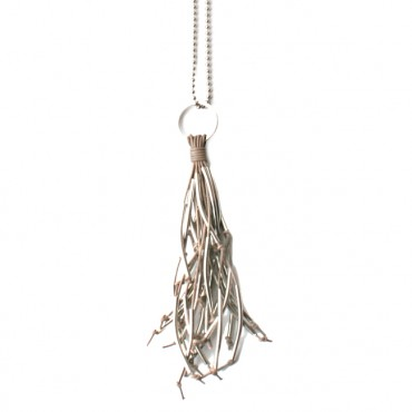 Ketting Tassel Leather Taupe