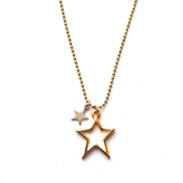 Ketting Stars -  Zilver/Goud