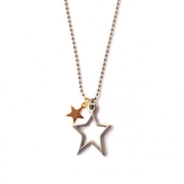 Ketting Stars Zilver/Goud