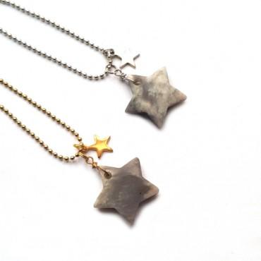 Ketting Stars Wavestone Zilver/Goud