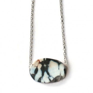 Ketting Agate Black & White