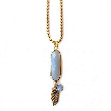 Ketting Oval Crystal Sapphire