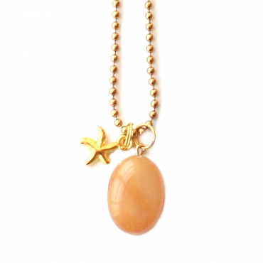 Ketting T I N Y Yellow Jade