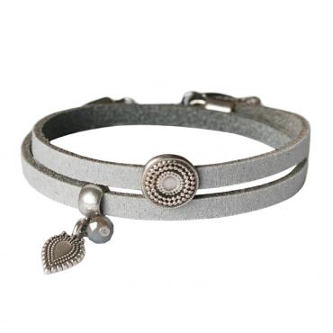 Armband Double BOHO grijs