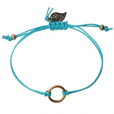 Armband Basic Circle Aqua