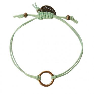 Armband Basic Circle Lichtgroen