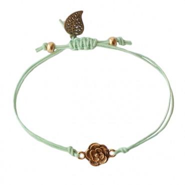 Armband Basic flower mintgroen