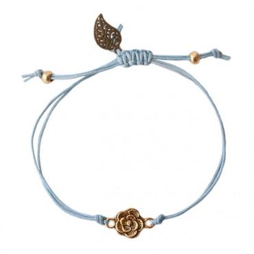 Armband Basic flower sapphire