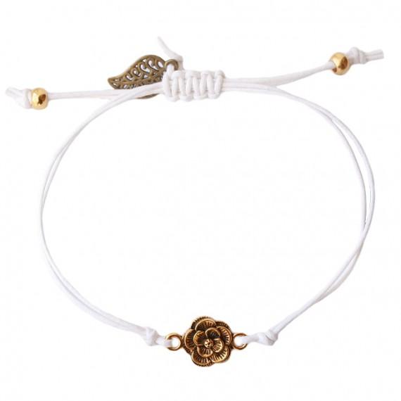 Armband Basic Flower wit