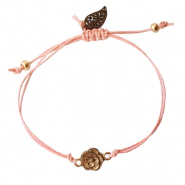 Armband Basic Flower zalm