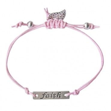 Armband Faith, roze