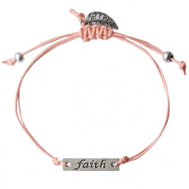 Armband Faith, zalm