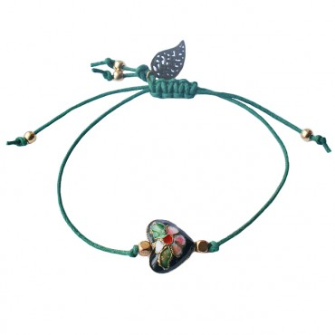 Armband Emaille Heart, groen