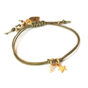 Armband Set T I N Y Star Okergeel / Groen