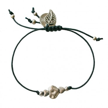 Armband | Tiny Hearts | Zwart